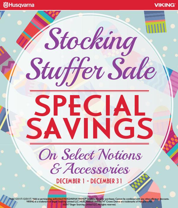 December 2017 - Stocking Stuffer Sale