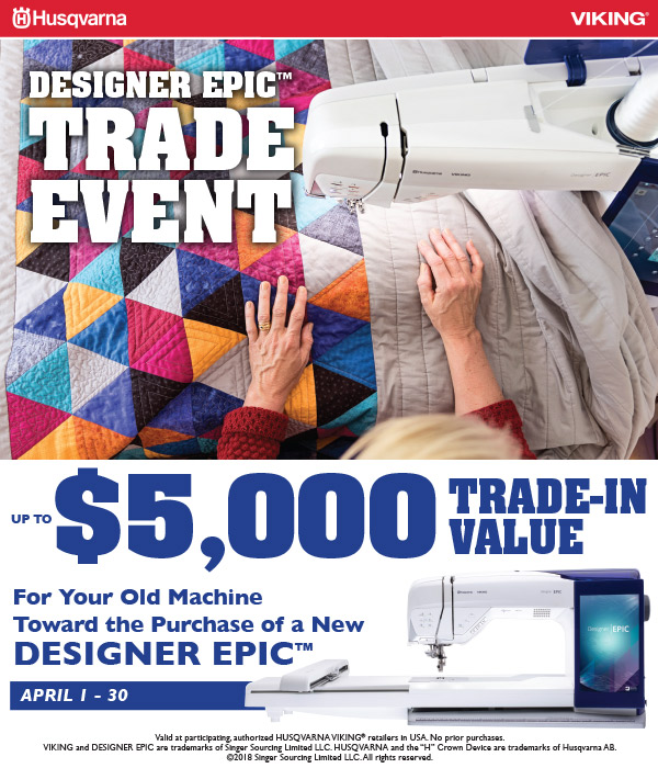 April 2018 - DESIGNER EPIC Trade