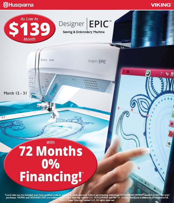 March 2018 - DESIGNER EPIC Financing
