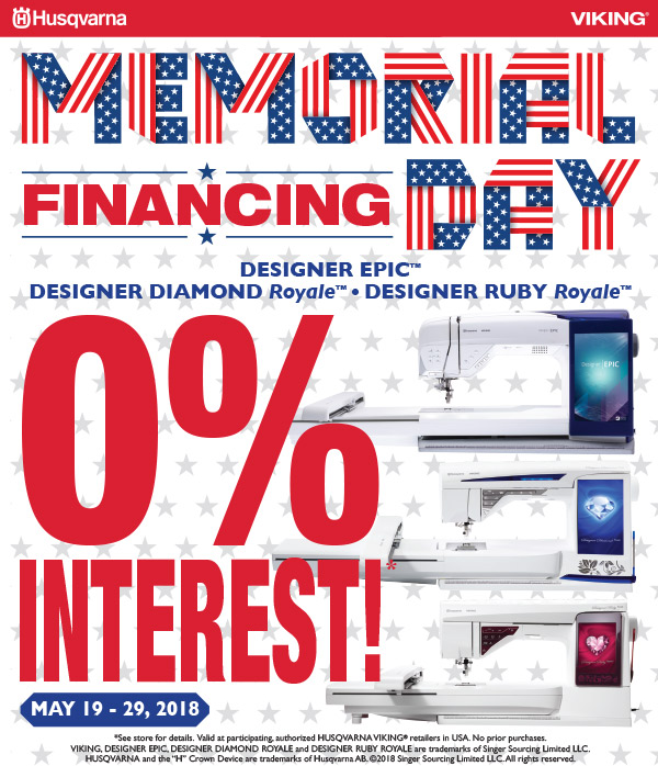 May 2018 - Memorial Day Financing